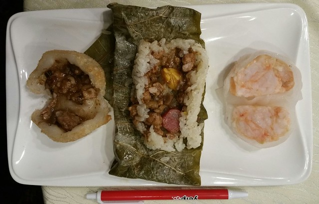 2016-Feb-24 Fortune House - dim sum meat dumpling, sticky rice, shrimp dumpling
