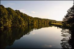 Fin de journée sur les bords de Saône