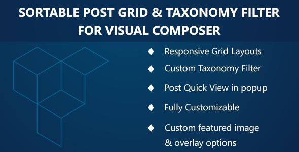 Visual Composer – Sortable Grid & Taxonomy filter v2.2.0