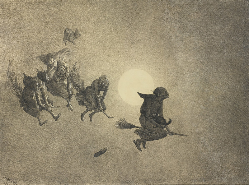 William Holbrook Beard -The Witche's Ride, 1870