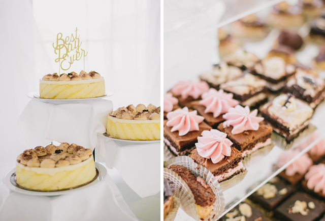 Wedding Desserts for Garden Chic wedding in Ontario The bride wears #BHLDN wedding dress | Photography: Fern Shin Photography | Read more on Fab Mood - UK wedding Blog #gardenwedding