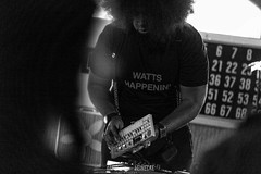 Reggie Watts performing at the Ole Beck VFW in Missoula MT #2013 #musicphotography #music #photooftheday #igers #montana #olebeckvfw #missoulamt #color #instalove guitar #missoula #beauty #instagood #travel #bands #wanderlust #reggiewatts #instapic #retro