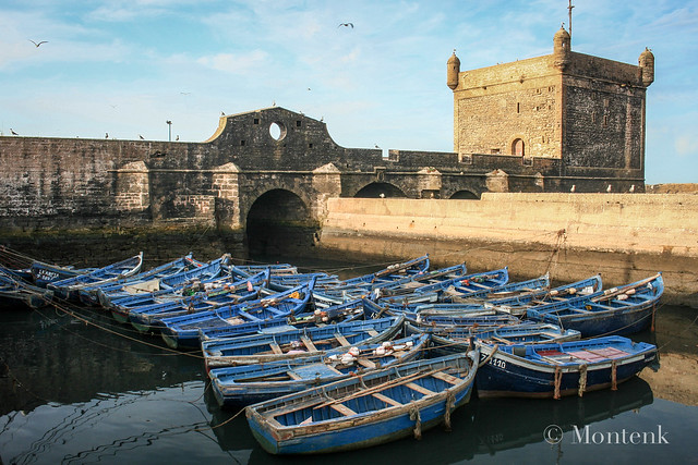 Sleeping boats at the docks, Essaouira, Morocco (2014)