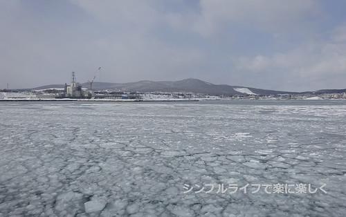 流氷、ガリンコ号より紋別港