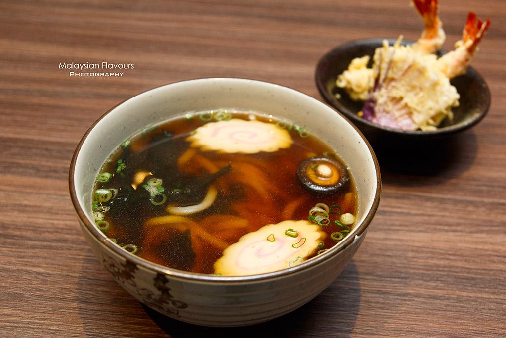 Burger & Sushi G Village Desa Pandan tempura prawn udon