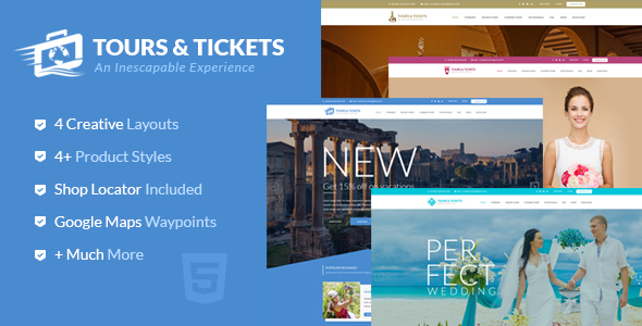 Tours & Tickets v1.0 – HTML Template
