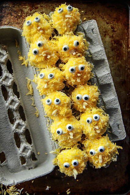 Coconut Brownie Chicks