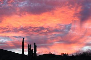 Sunset in  Moulege - Baja California