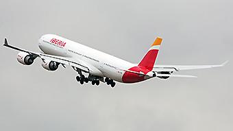 Iberia A340-600 en vuelo (Iberia)