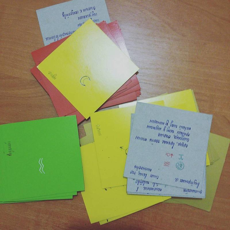 Карточки для изучения астрологии. Два вечера рисовала)