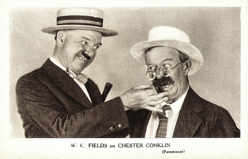 W.C. Fields and Chester Conklin in Fools for Luck (1928)