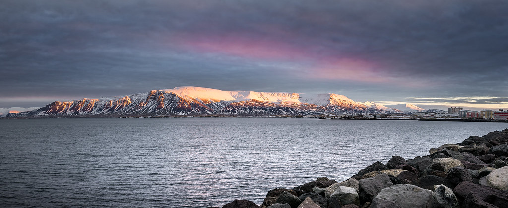 Esjan at sunrise, Reykjavik, Iceland picture