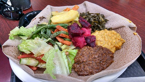Ethiopian food at West Side Bazaar