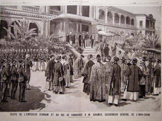 Septembre 1897 - VISITE DE L'EMPEREUR D'ANNAM ET DU ROI DE CAMBODGE A M. DOUMER, GOUVERNEUR GENERAL DE L'INDO-CHINE