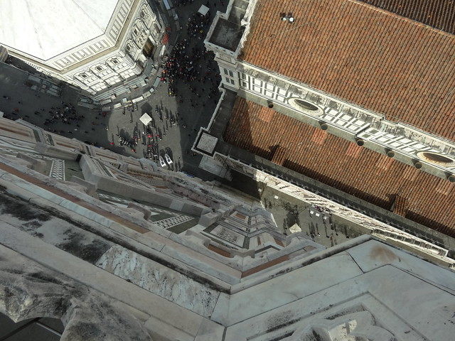 Looking down from the top of the Campanile