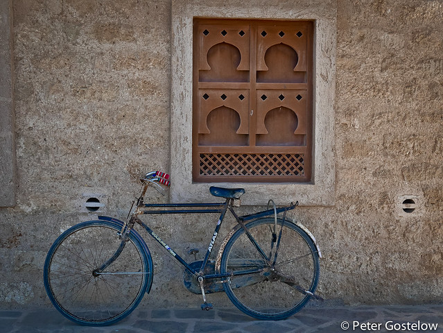 Indian bike outside Mirbat Fort
