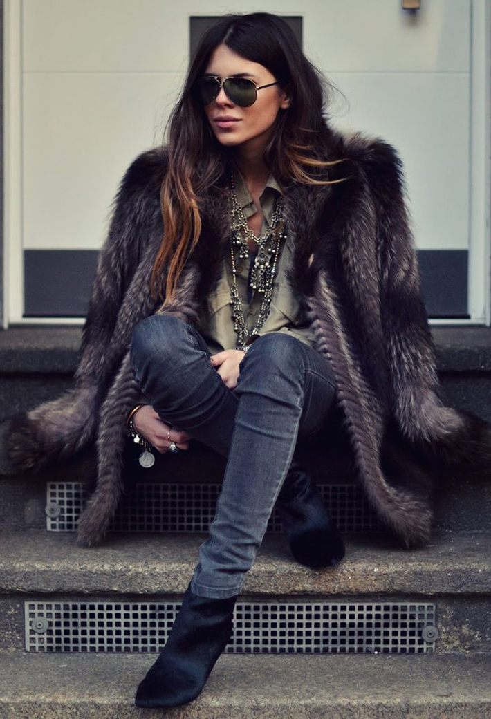Faux Fur Coats Outfits style inspiration streetstyle11