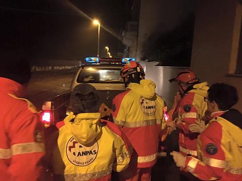 12 gennaio - A causa delle mareggiate sul litorale pisano, i volontari Anpas hanno svolto attività di protezione civile