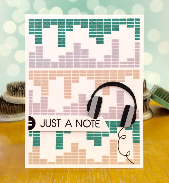 Just a Note by Jennifer Ingle #SimonSaysStamp #MFTStamps #Cards