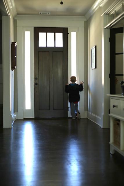 brooks at door