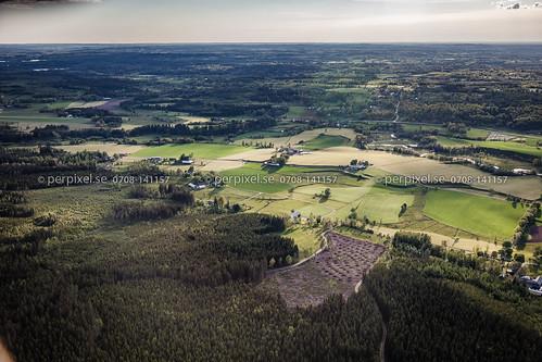 skog sverige dalum swe västragötaland ätran flygfoto nöre