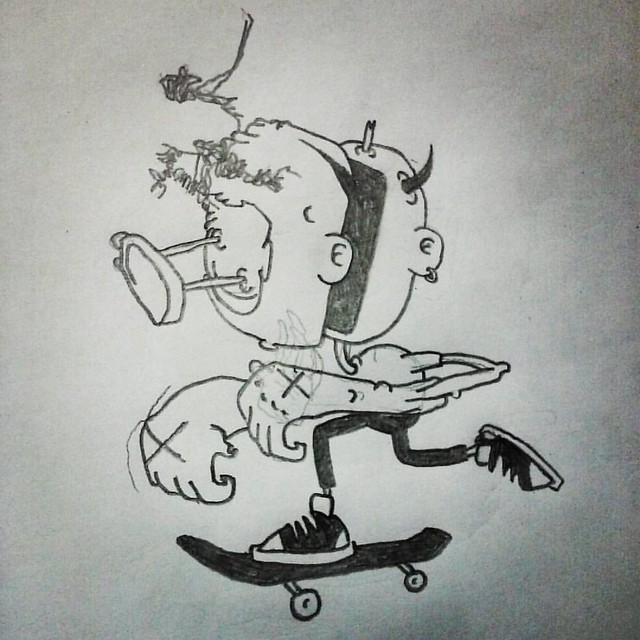 #drawing #cartoon #cartooning #pencildrawing #sketch #dailysketch #sketchbook #artistsontumblr #artistsoninstagram #skateboarding #surfing #ericpenarivera