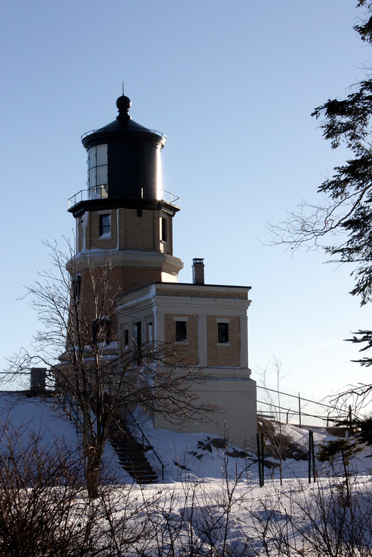 The back side of the lighthouse, on the walk in from the parking lot