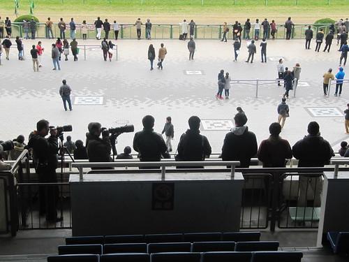 京都競馬場3階席のカメラマン席