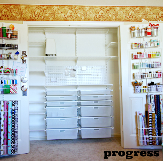 Hi Sugarplum | Elfa Office/Craft Closet