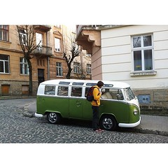 Hippie trailer spotted in Lviv by...