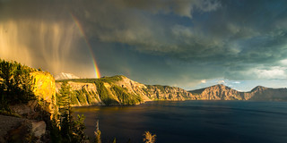 Day's End Storm at Crater Lake, Oregon, 2014