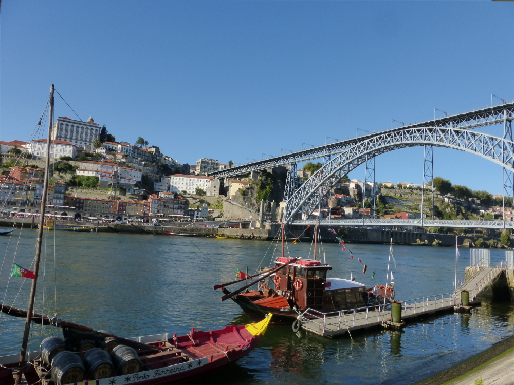 View of the Duoro River, Porto Portugal