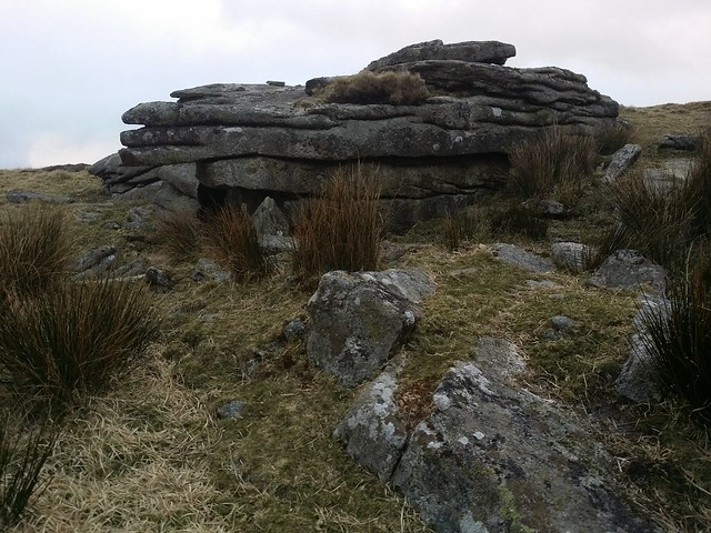Outcrop near Knattaborough Tor