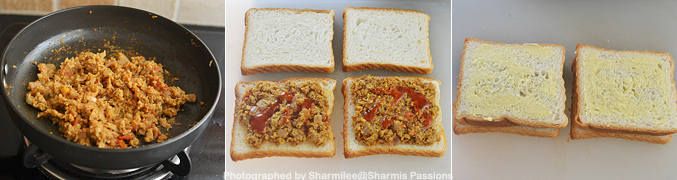 Grilled Soya Kheema Sandwich Recipe - Step4