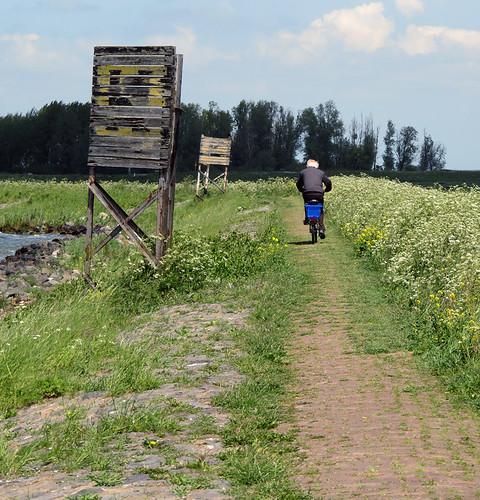 Riding along the Marken Dyke in Holland