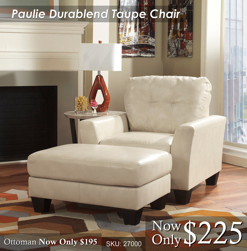 Paulie Durablend Taupe Chair