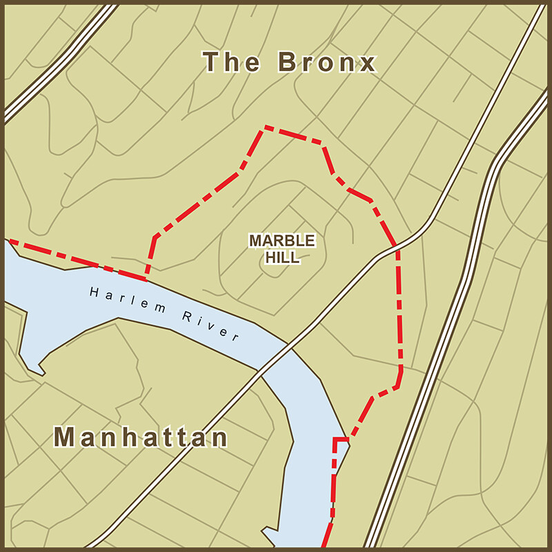 Map Of Manhattan And Bronx.A Map Of The Strange Border Between Manhattan And The Bron Flickr