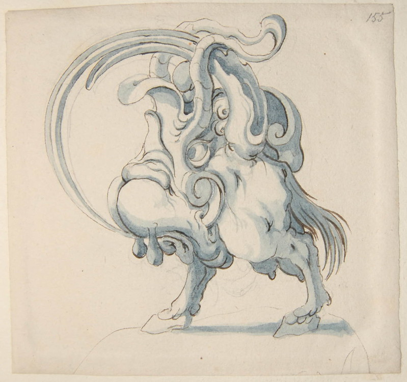 Arent van Bolten - Monster 155, from collection of 425 drawings, 1588-1633