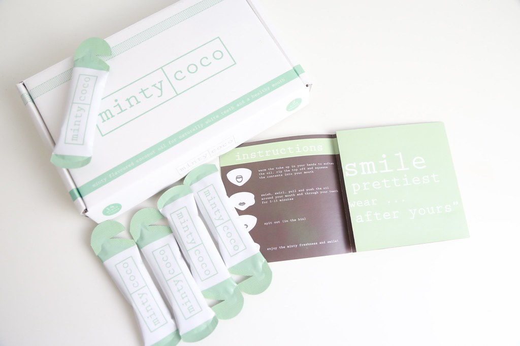 mintycoco, teethwhitening, oilpulling, krystelcouture,