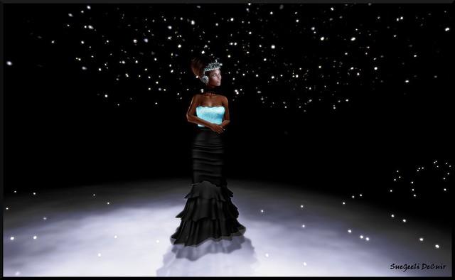 Nathalie Black-Turquoise
