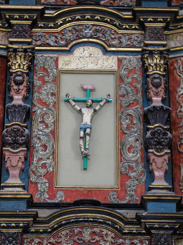 Valladolid: un christ sur la croix avec les articulations mobiles pour encore plus de réalisme (l'église de San Bernardino)