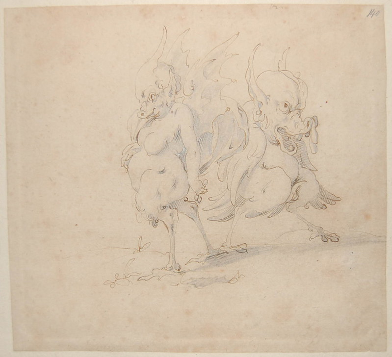 Arent van Bolten - Monster 140, from collection of 425 drawings, 1588-1633