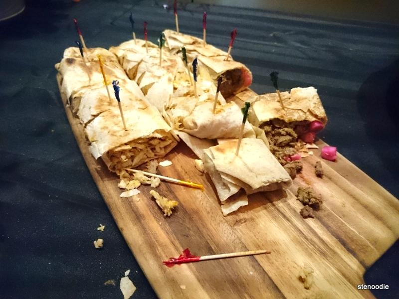 Tabliyeh Saj Beef Shawarma and Tabliyeh Saj Chicken Shawarma