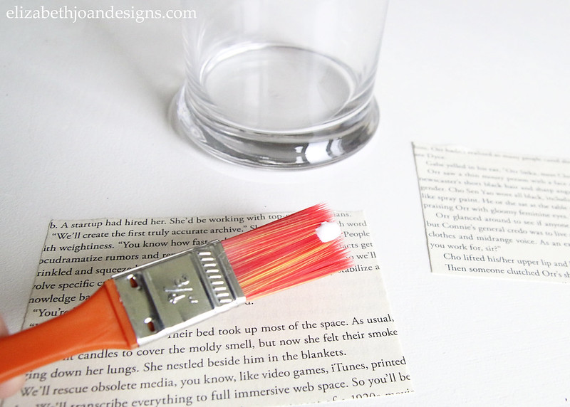 Paint Brush Glue Book Pages