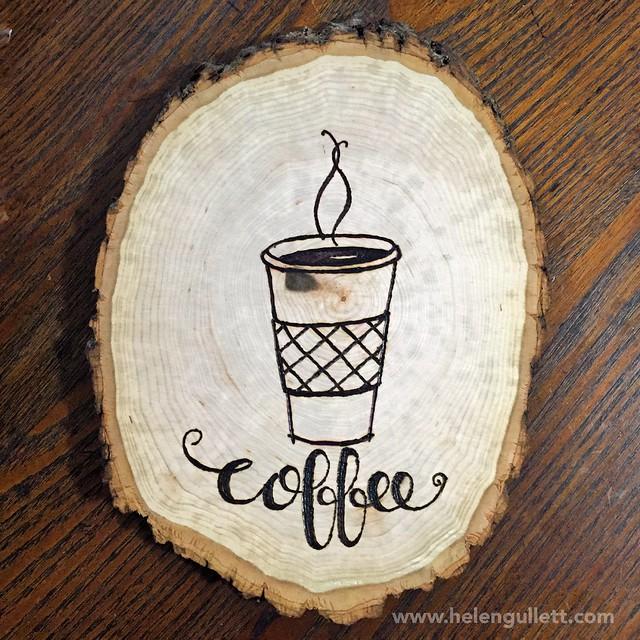 Wood-Burning with Stencil, Stamp and Hand-lettering   Living My Given Life http://helengullett.com/?p=8947 #diy #woodburning #woodslice #homedecor #handmade #handmadehomedecor #craft #heroarts