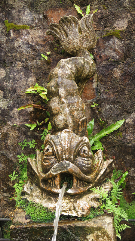Fish fountain in Glenveagh National Park garden