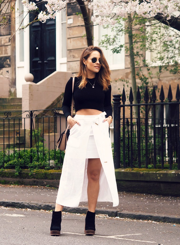 The Little Magpie White Midi Skirt 4