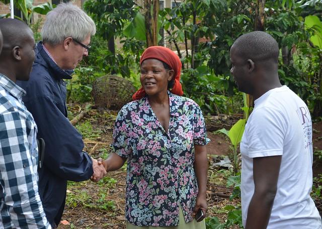 Irsh Aid visit to ILRI Uganda_Kawere's farm