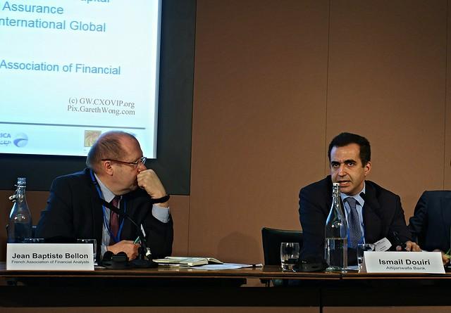 Jean Baptiste Bellon, Chairman, French Association of Financial Analysts, Ismail Douiri, Attijariwafa Bank from RAW _DSC0555