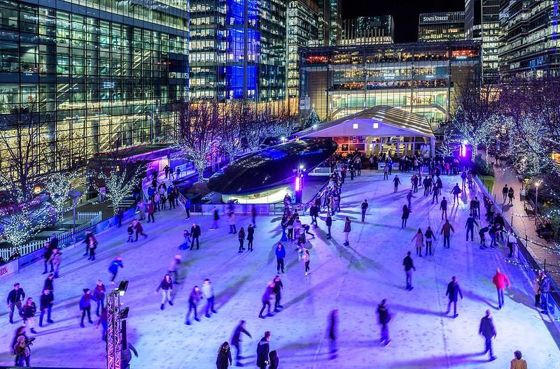 151222- Ice-World rink Canary Wharf Ice Skating